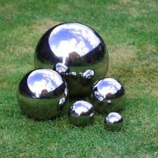 5 mirror finish stainless steel sphere ornaments 6 5 9 13 18