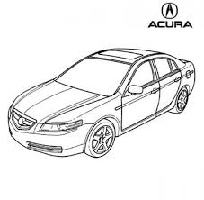coloring page of acura car for kids coloring point