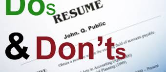 Dos And Donts Of Resume Get A Cyber Security Job Hiring Manager U0027s Tip Sheet Part Ii Njvc