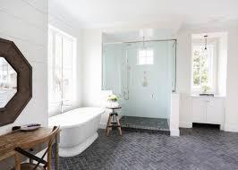 rustic modern farmhouse bath tour rustic bathroom decor ideas entry midcentury with pop of color