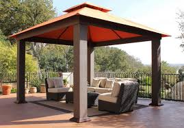 12x12 Patio Gazebo Costco 1200 Cedar Wood 12 X 12 Gazebo With Aluminum Roof Outdoor