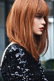 lob hairstyles with bangs gorgeous red lob with longer front pieces beauty and hair