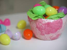 paper mache easter baskets diy paper mache easter basket