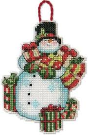 cross stitch snowman ornament chart pdf pattern