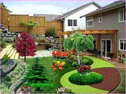 How To Landscape A Sloped Backyard - nice small sloped backyard ideas landscaping ideas for small