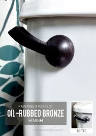 Bathroom Toilet Handles Painting A Perfect Oil Rubbed Bronze Finish Bronze Finish Oil