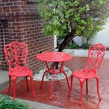 Aluminum Bistro Table And Chairs Meadow Decor Aluminum Bistro Set Hayneedle