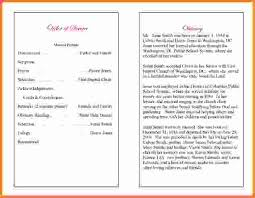 Templates For Funeral Program Funeral Program Example Funeral Program Examples Sandy Single