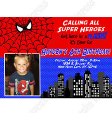 spiderman printable invitation 2 photo diy entertainment