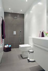 mode concrete modern open concept bathroom featuring a this