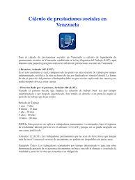 calculo referencial de prestaciones sociales en venezuela cálculo de prestaciones sociales en venezuela