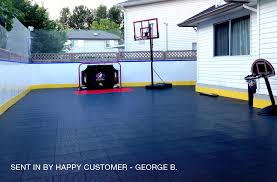 How Much Does A Backyard Basketball Court Cost Outdoor Sports Tiles Badminton Volleyball And Tennis