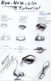 how to draw eyes nose and mouth u2026 pinteres u2026