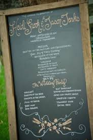 Wedding Program Chalkboard Wedding Program Chalkboard Wedding Rustic Wedding Barn Wedding