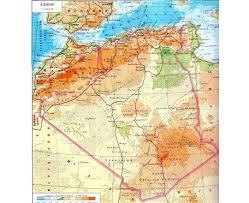 algeria physical map maps of algeria detailed map of algeria in tourist map