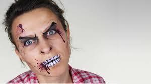 easy zombie face painting ashlea henson youtube