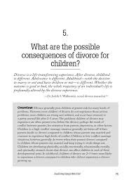 Conflict Resolution Worksheets For Kids Lesson 5 Possible Consequences Of Divorce For Children Divorce