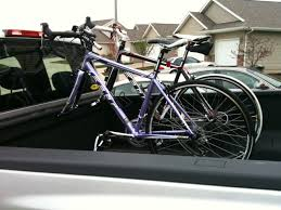 nissan accessories bike rack my first mod in bed bike rack nissan titan forum