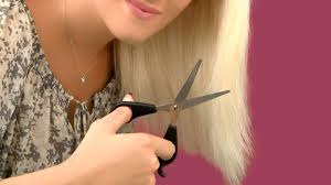 hairstyle thin frizzy dead ends short medium length help quick and easy how to cut your own hair and trim split ends at home youtube