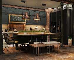 Industrial Home Interior Design by Industrial Pendant Lamps Interior Design Ideas