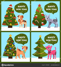 happy new years posters happy new year posters set on vector illustration stock vector