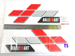 mitsubishi ralliart logo wallpaper ralliart sticker kamos sticker