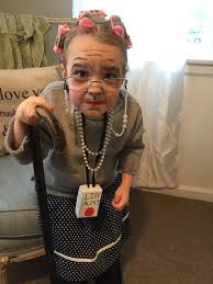 old lady makeup and costume 100th day of 100th day of