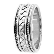 Mens Platinum Wedding Rings by Handmade Weave Platinum Wedding Ring For Men U0026 Women