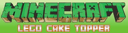 minecraft cake topper back in block minecraft cake topper