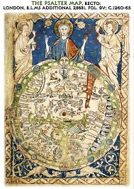 Best World Map The Psalter World Map Mappa Mundi Best Quality A4 Size