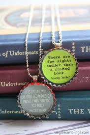 bottle cap necklaces ideas lemony snicket quotes diy bottle cap necklaces rae gun ramblings