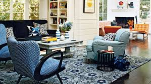 Patterned Living Room Chairs 100 Comfy Cottage Rooms Coastal Living