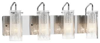 4 light standard bulb bath vanity light in chrome contemporary