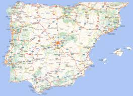 Asturias Spain Map by Spain And Portugal Road Map Full Size
