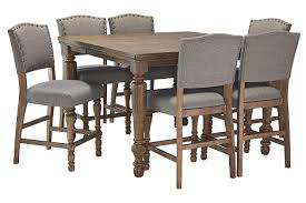 Tanshire Counter Height Dining Room Table Ashley Furniture HomeStore - Tanshire counter height dining room table price