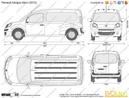 renault kangoo 2012 the blueprints com vector drawing renault kangoo maxi