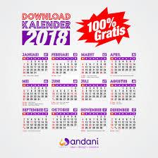 Kalender 2018 Hari Raya Idul Fitri 100 Gratis Desain Kalender 2018 Format Cdr Pdf Free