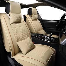 couvre si es auto nouveau pu en cuir auto universel avant arrière siège de voiture
