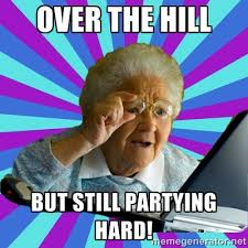Over The Hill Meme - kier does life charging over the hill