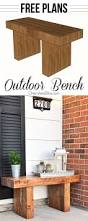 Outdoor Wooden Bench Plans To Build by Best 25 White Outdoor Bench Ideas On Pinterest Outdoor Benches