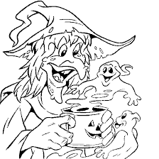halloween coloring witch ghost halloween coloring book free