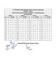 up tgt pgt answer key solved question paper 2016