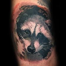 80 raccoon tattoo designs for men critter ink ideas