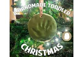 a handmade toddler diy ornaments baby
