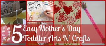 lily u0026 frog friday 5 5 easy mother u0027s day toddler arts n u0027 crafts