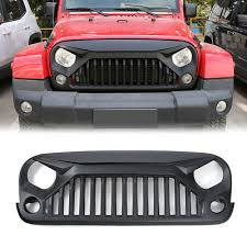 monster jeep jk topfire fury series monster jeep wrangler jk 07 17 front matte black