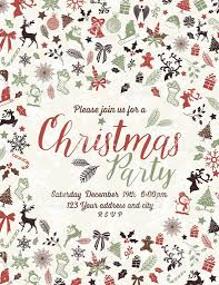 retro inspired christmas party invitation template stock vector