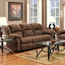 Microfiber Reclining Sofa Sets Microfiber Sofa Set Chocolate Microfiber Dual Reclining Sofa And
