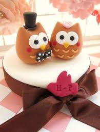 custom wedding cake topper love birds cute owl by 100original