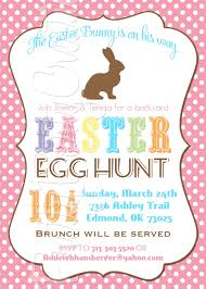 sweet easter party invitation e card sample with colorful text
